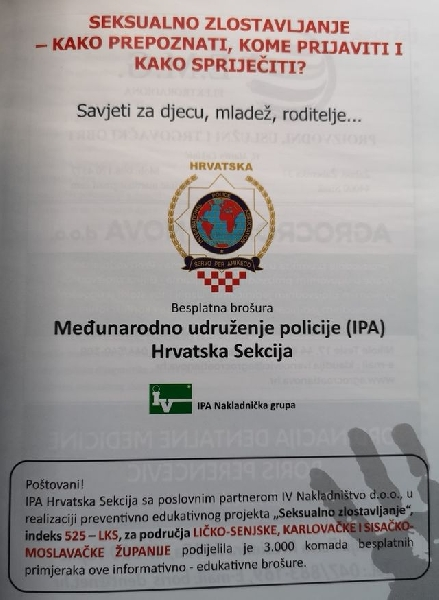 "Besplatna preventivno-edukativna brošura "" Seksualno zlostavljanje"""