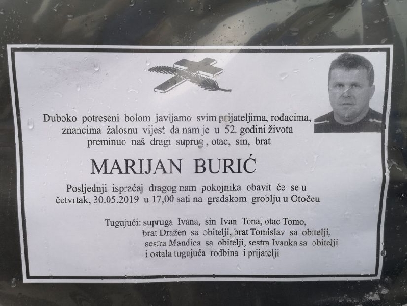 Preminuo Marijan Burić