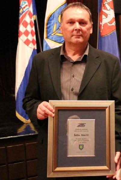 Željko Odorčić - potpredsjednik IPA LIKA Gospić proglašen najboljim sportašem Ličko-senjske županije u 2015.