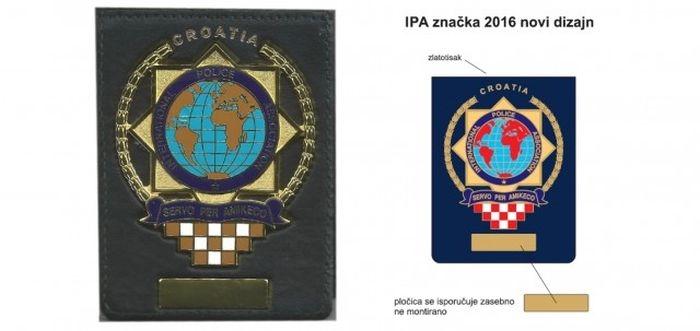 Novi oblik i dizajn značke u etuiu IPA Hrvatske Sekcije.